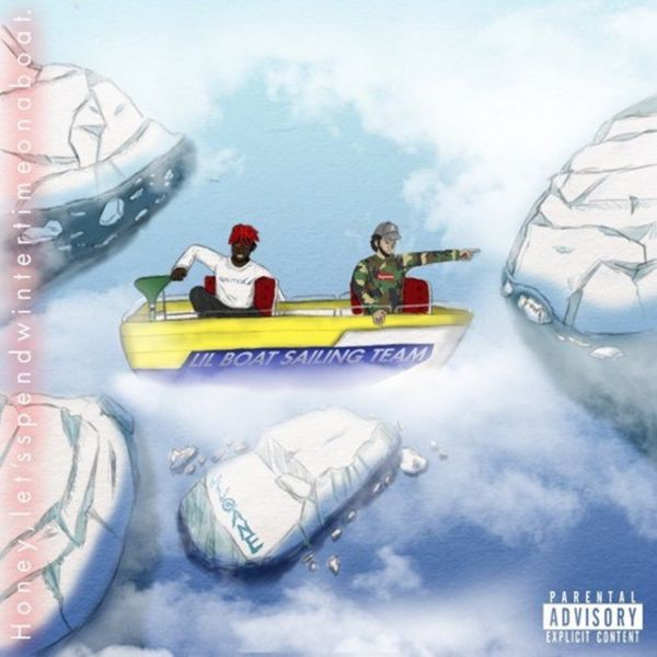 Lil Yachty & Wintertime Zi - 'Hey Honey Let's Spend Wintertime On A Boat'. EP Cover Art