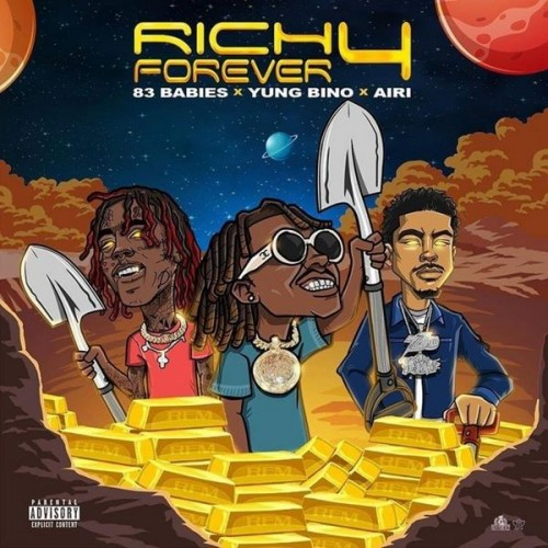 Rich The Kid, Famous Dex & Jay Critch - Rich Forever 4 Cover Art