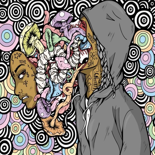 Nef The Pharaoh - Mushrooms & Coloring Books Cover Art