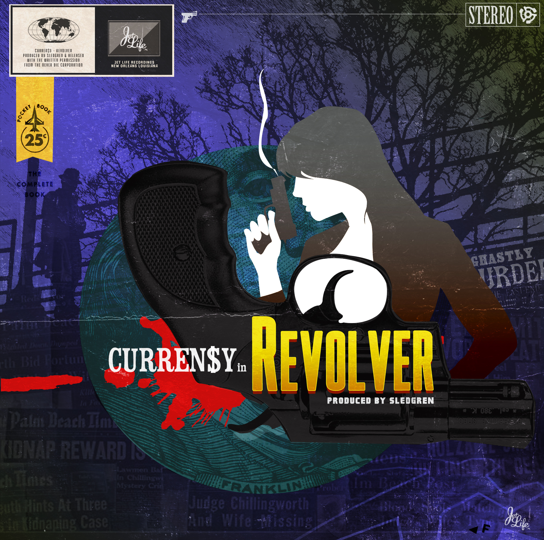 Curren$y & Sledgren - Revolver Cover Art