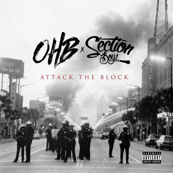 Chris Brown, OHB & Section Boyz - Attack The Block Cover Art