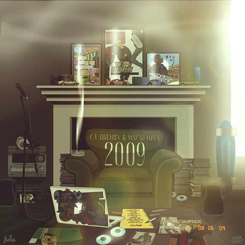 Wiz Khalifa & Curren$y - 2009 Cover Art